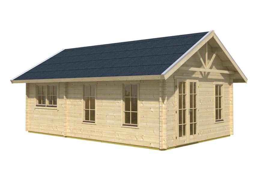 Gartenhaus SKANHOLZ Toronto 45mm-Wochenendhaus-Holzhaus in 3 Größen