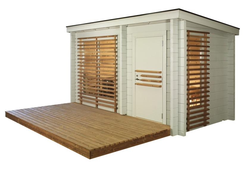 aussensauna helo maali typ 2 saunahaus gartensauna holz. Black Bedroom Furniture Sets. Home Design Ideas