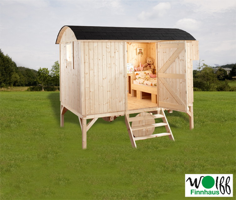 kinderspielhaus wolff camping bauwagen holz stelzen gartenhaus gartenspielhaus spielhaus. Black Bedroom Furniture Sets. Home Design Ideas
