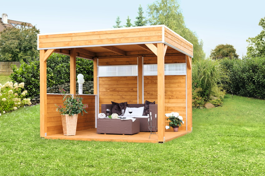 pavillon skanholz toulouse 4 eck pavillion holzpavillon vom garten fachh ndler. Black Bedroom Furniture Sets. Home Design Ideas