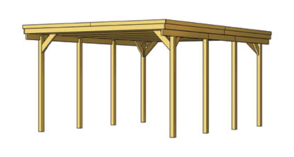 holz carport skanholz holstein flachdach einzelcarport holz angebot. Black Bedroom Furniture Sets. Home Design Ideas