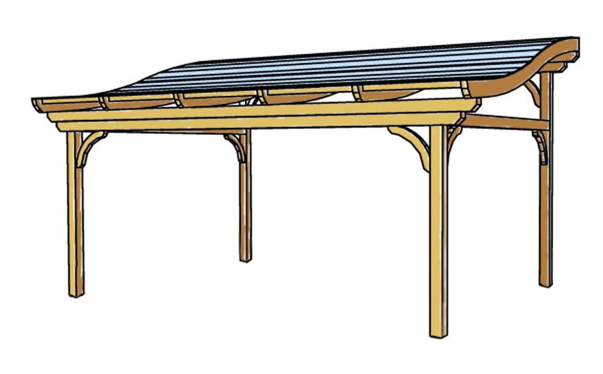 terrassen berdachung holz bausatz skanholz florenz. Black Bedroom Furniture Sets. Home Design Ideas