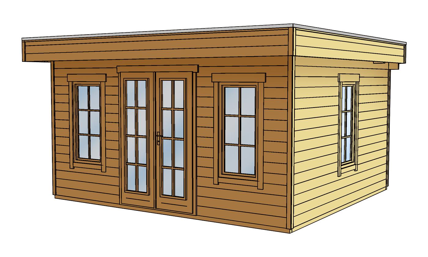 flachdach gartenhaus skanholz basel 45plus mit panorama doppelt r gartenh user und. Black Bedroom Furniture Sets. Home Design Ideas