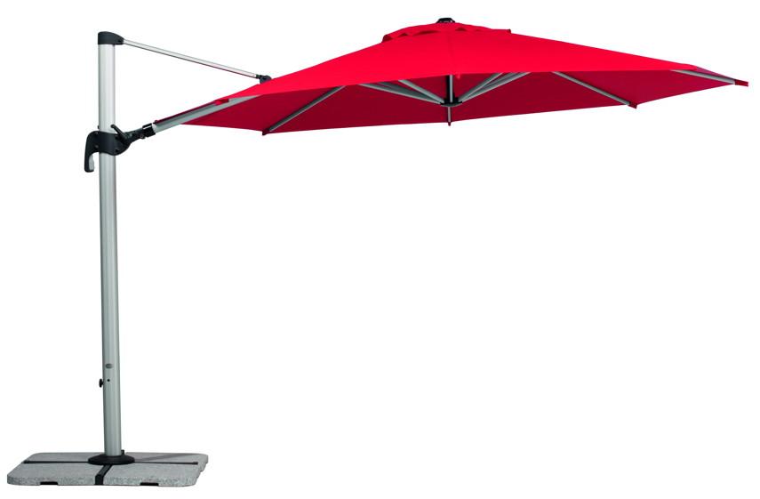 sonnenschirm schneider barbados ampelschirm 350 cm 3 5m rot anthrazit natur ebay. Black Bedroom Furniture Sets. Home Design Ideas