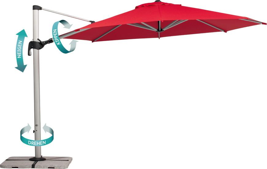 sonnenschirm höhenverstellbar kippbar