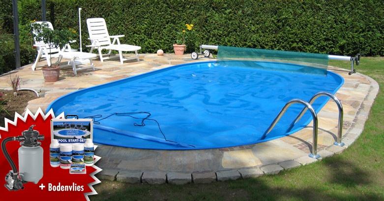 Mypoolval stahlwandbecken swimmingpool inkl for Garten pool komplett set