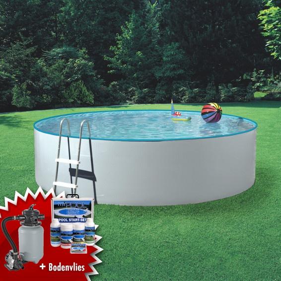 Mypool poolset splash sandy stahlwandbecken swimmingpool for Poolfolie steinoptik