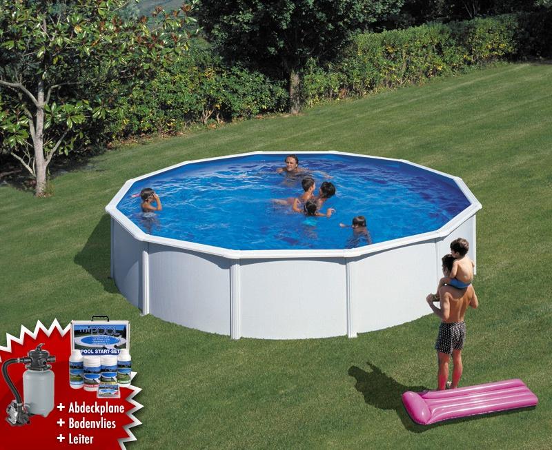 Garten pool teilversenkt for Gartenpool 3m