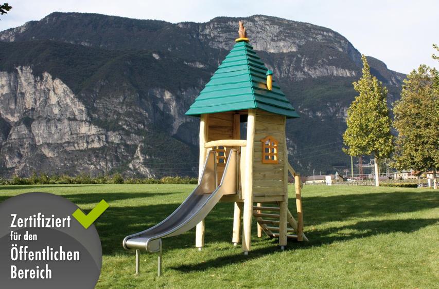 kinder-spielhaus holzhof «country toretta» auf stelzen mit rutsche, Schlafzimmer design