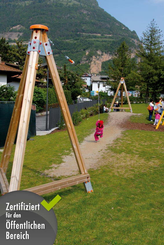 seilbahn holzhof indian seilrutsche kinderspielger te f r den garten. Black Bedroom Furniture Sets. Home Design Ideas