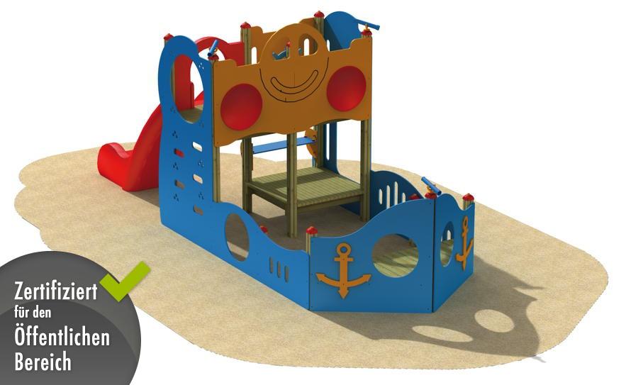 kinder spielplatz holzhof schiff rutsche kletterturm. Black Bedroom Furniture Sets. Home Design Ideas