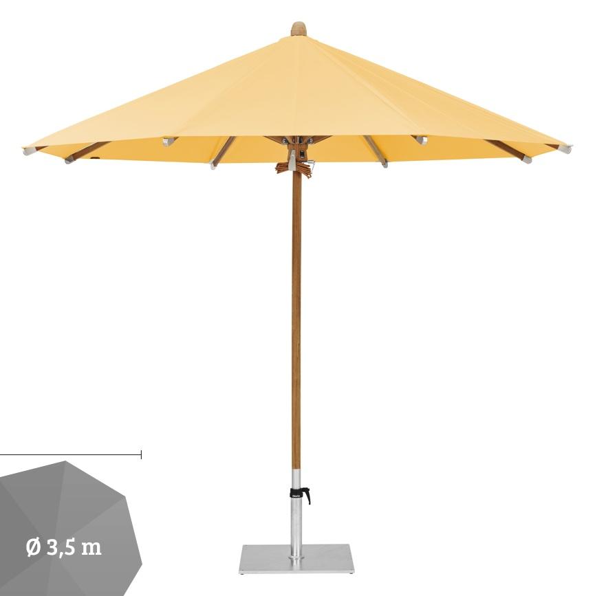 sonnenschirm glatz stockschirm teakwood 350 cm fire sun rot orange gelb gartenm bel. Black Bedroom Furniture Sets. Home Design Ideas