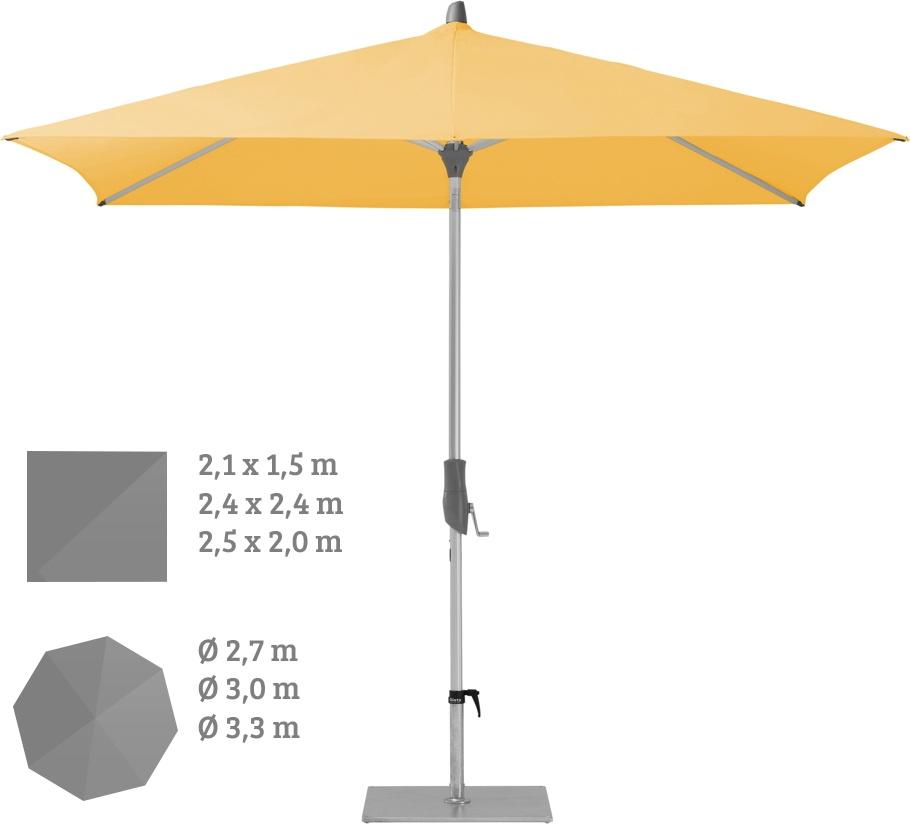 Sonnenschirm GLATZ Stockschirm Alu Twist Fire+Sun gelb orange rot