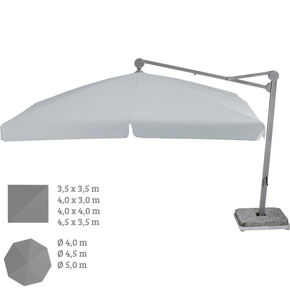 Ampelschirm GLATZ Großschirm Ambiente 4-5m hängend rund|eckig