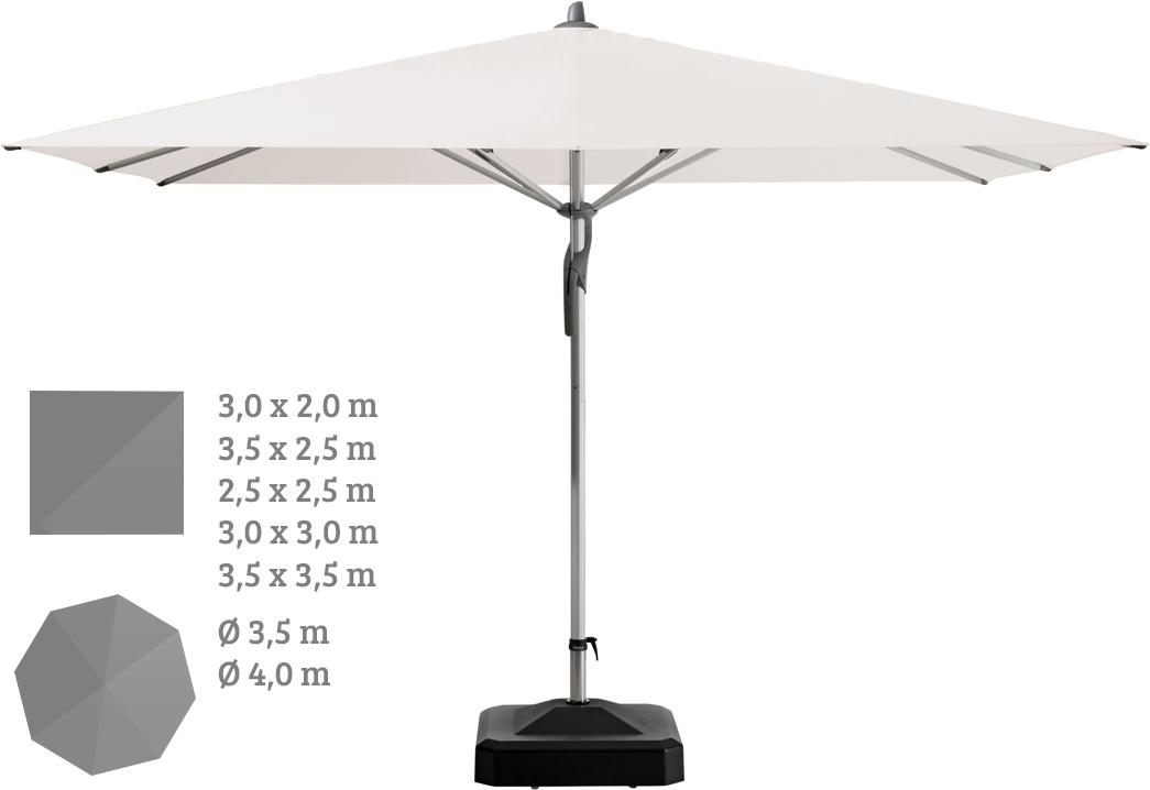 Sonnenschirm GLATZ Stockschirm Fortero leichtgängier Mechanismus rund|eckig