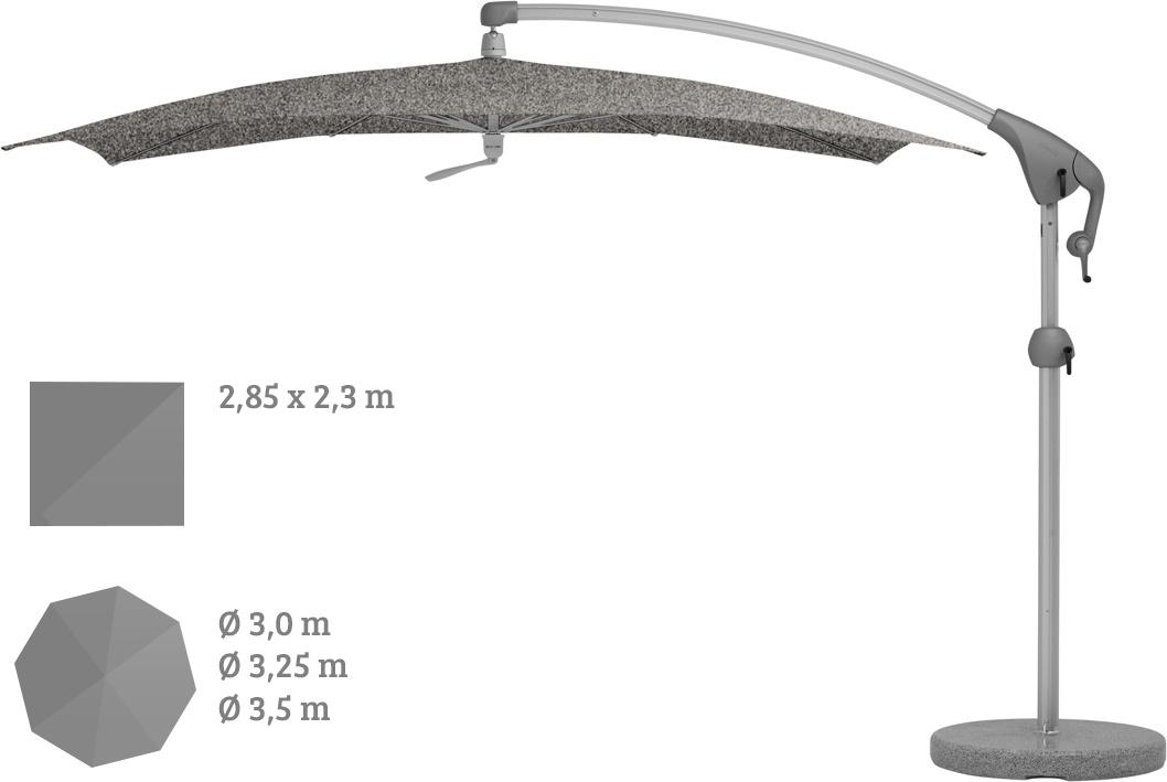 Ampelschirm GLATZ Sonnenschirm Pendalex P+ leichtgängig beweglich rund|eckig