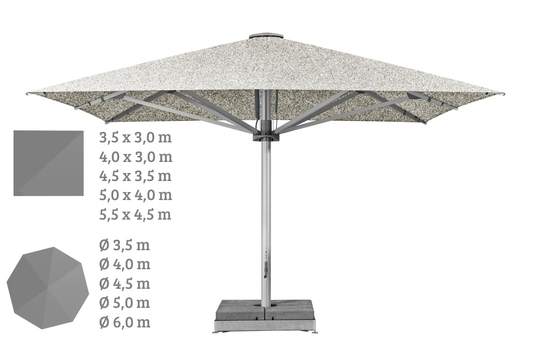 Sonnenschirm GLATZ PALAZZO STYLE Markt Gastronomie 3-6m rund|eckig