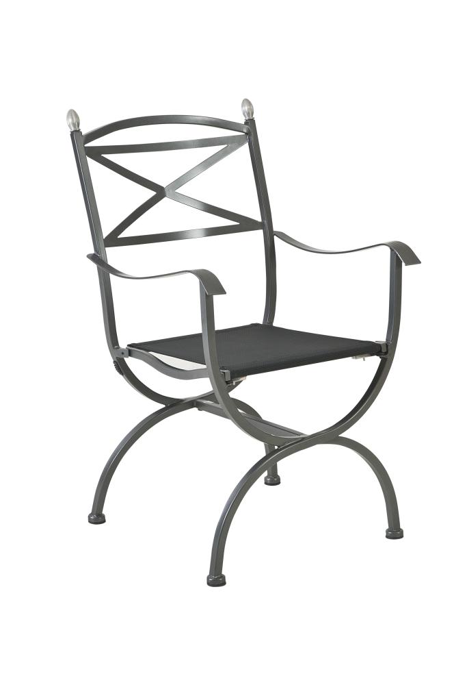 MBM LIVING Sessel Medici Eisen graphit | Gartenmöbel Fachhandel