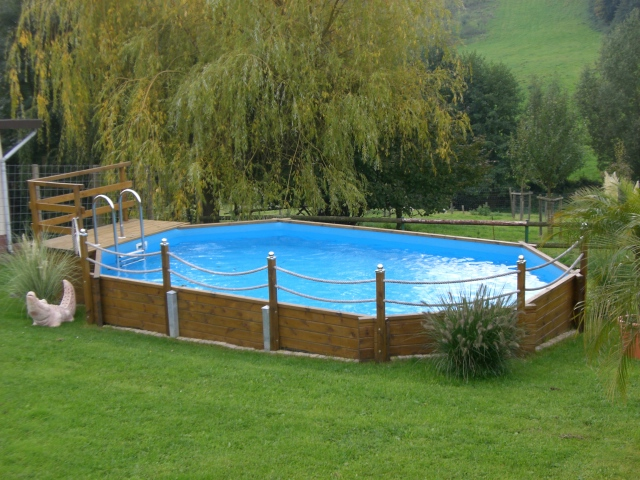 weka swimmingpool holzpool pool im garten. Black Bedroom Furniture Sets. Home Design Ideas