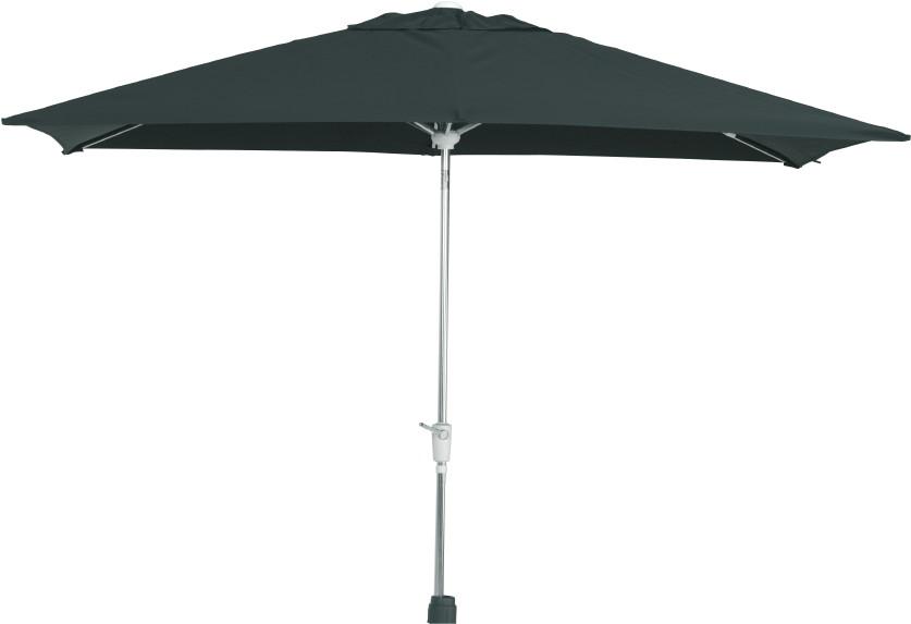 Aluminium-Sonnenschirm Madera 250x250 quadratisch Sonnenschutz Parasol eckig