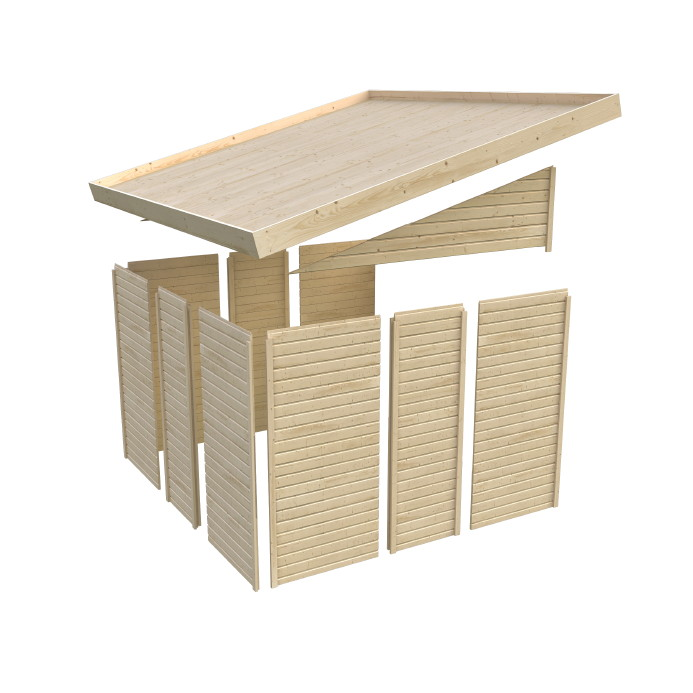ger tehaus flachdach karibu juist wandlitz wandanbau. Black Bedroom Furniture Sets. Home Design Ideas