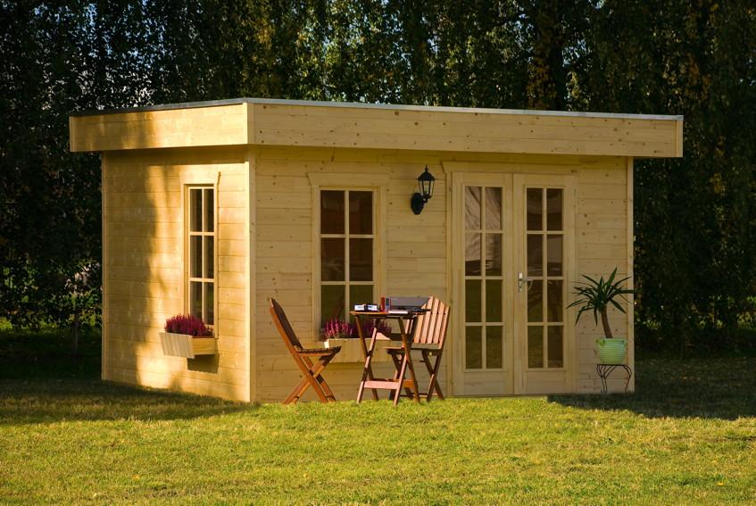gartenhaus skanholz breda flachdach holzhaus mit fenster. Black Bedroom Furniture Sets. Home Design Ideas