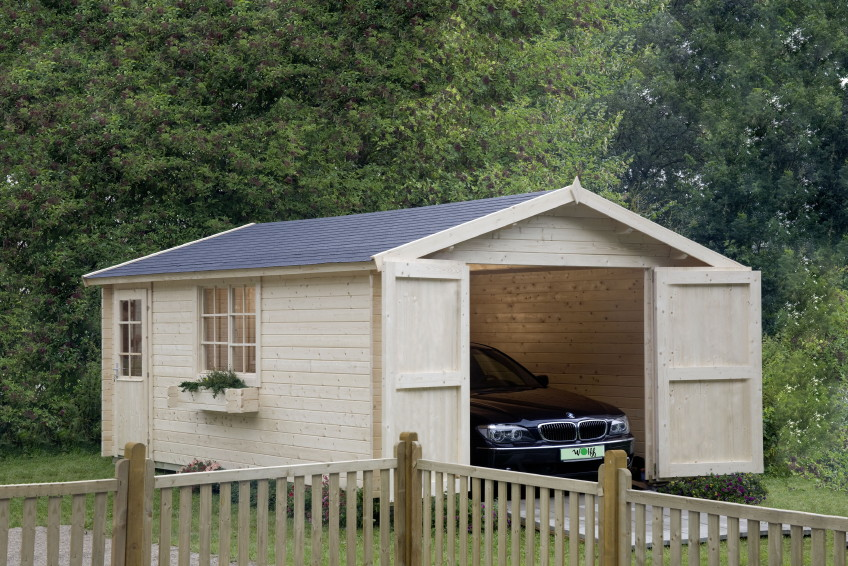 garage wolff 44 b holzgarage bausatz blockbohle seitliches fenster t r holz angebot. Black Bedroom Furniture Sets. Home Design Ideas