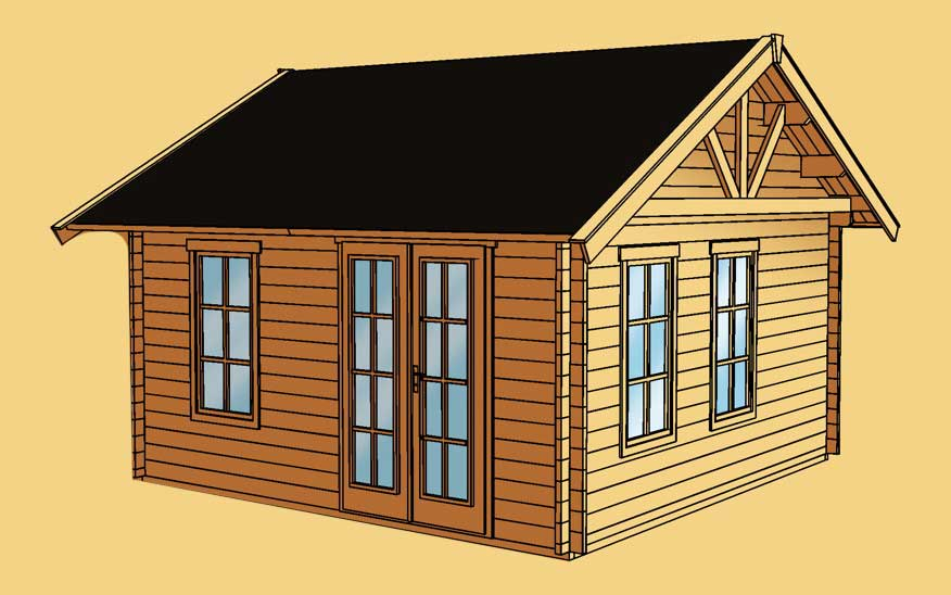 gartenhaus skanholz toronto 45mm wochenendhaus holzhaus in 3 gr en vom garten fachh ndler. Black Bedroom Furniture Sets. Home Design Ideas