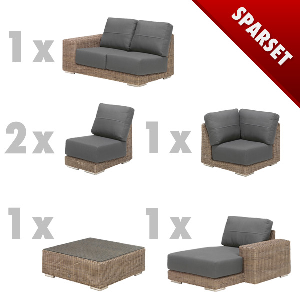 Premium-Geflecht-Gartenm�bel-Lounge-Set 4Seasons Kingston Sitzgruppe Lounge