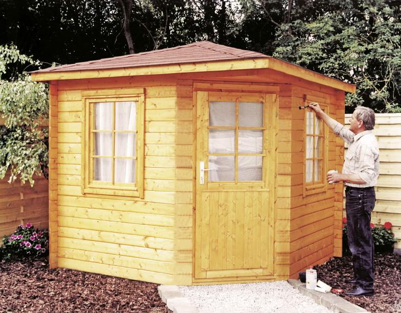5 eck gartenhaus 240x240cm holzhaus bausatz einzelt r mit fenster holz angebot. Black Bedroom Furniture Sets. Home Design Ideas