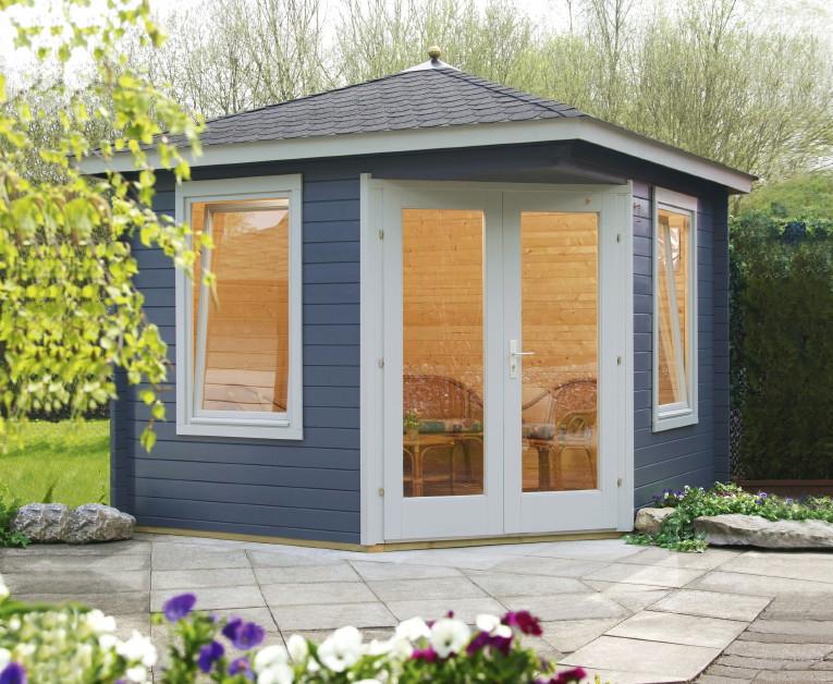 5 eck gartenhaus 240x240cm holzhaus bausatz einzelt r mit fenster gartenhaus aus holz. Black Bedroom Furniture Sets. Home Design Ideas