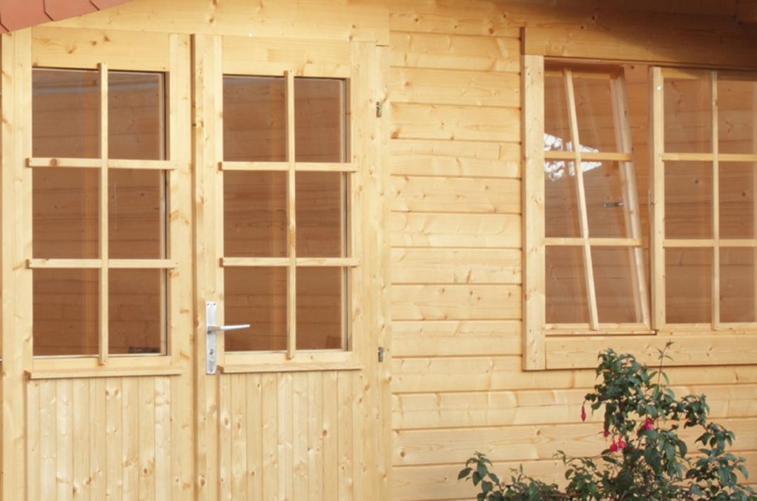 5 eck gartenhaus 240x240cm holzhaus bausatz einzelt r for Fenster angebot
