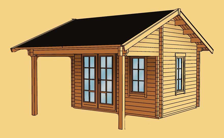 gartenhaus skanholz calgary mit gro er berdachung vom garten fachh ndler. Black Bedroom Furniture Sets. Home Design Ideas