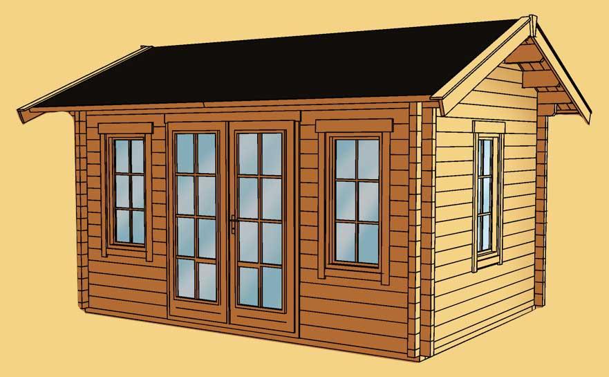 gartenhaus skanholz montreal blockbohlen holzhaus fenster doppelt r vom garten fachh ndler. Black Bedroom Furniture Sets. Home Design Ideas