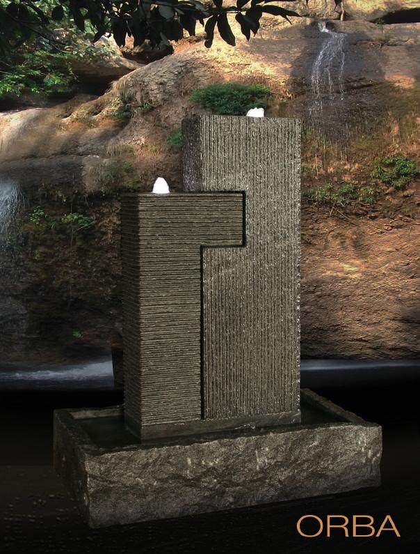 Garten-Springbrunnen DIAMOND GARDEN «Orba» Granit ...