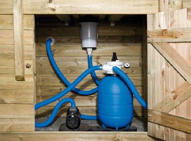 holzpool swimmingpool mit sandfilter pumpe 3 8 x 6m ebay. Black Bedroom Furniture Sets. Home Design Ideas