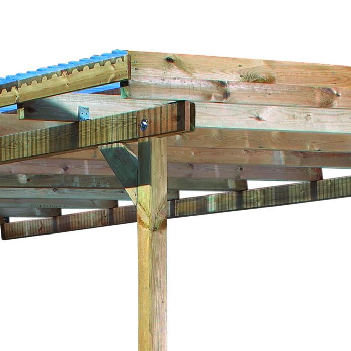 Kinderspielhaus Holz Hochwertig ~ Terrassenüberdachung Holz Bausatz KARIBU «ECO» Terrassendach