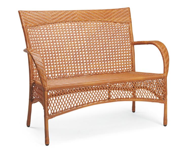gartenbank best madelene 2er korbbank 2 sitzer. Black Bedroom Furniture Sets. Home Design Ideas