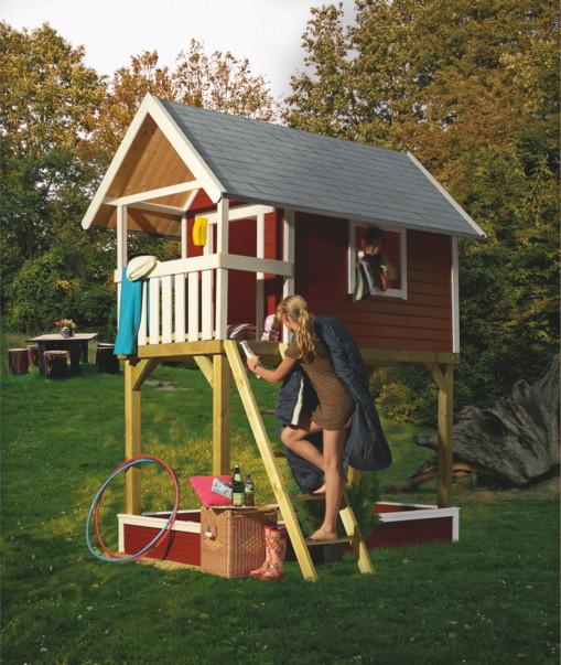 Kinderspielhaus Holz Bausatz ~ Kinder Stelzenhaus KARIBU «Gernegross» Spielhaus Holz  Spielhaus