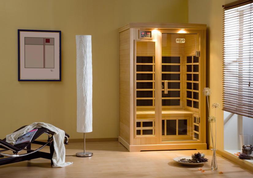 Infrarotkabine HELO Sun Wärmekabine Flächenheizsystem Infrarotwärme Sauna