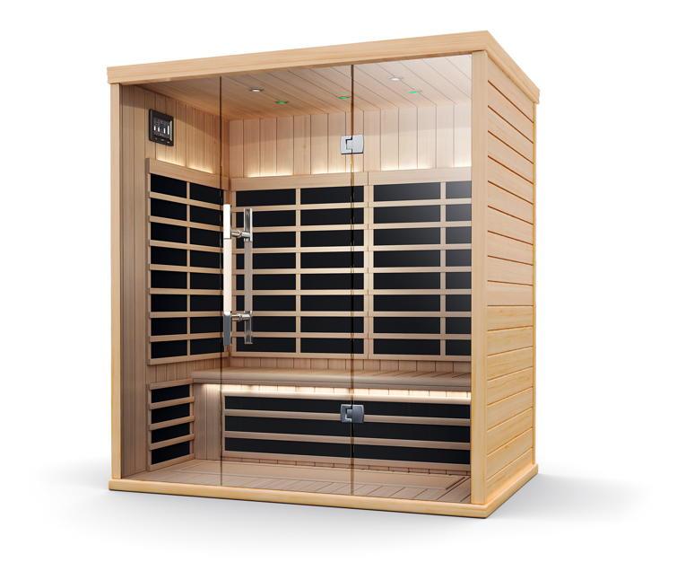 Infrarotkabine HELO Sun S Pure Infra Pavillon Wärmekabine Flächenheizsystem