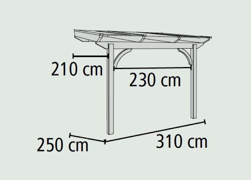 terrassen berdachung holz bausatz douglasie karibu premium terrassendach ebay. Black Bedroom Furniture Sets. Home Design Ideas