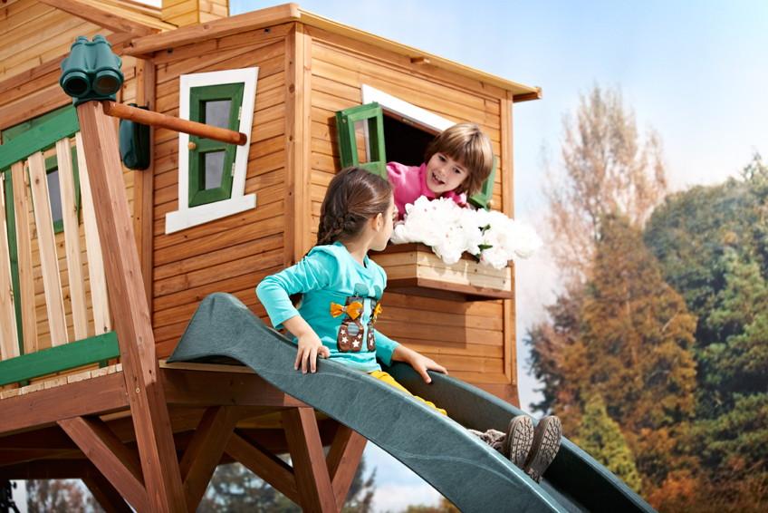 kinder holz spielhaus gro hoch comic kinderspielhaus. Black Bedroom Furniture Sets. Home Design Ideas