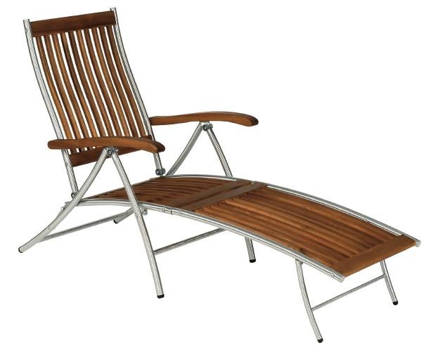 Gartenmobel Auflagen Hochlehner Kettler : Gartenliege BALKE «Singapur» Deckchair Holzliegestuhl, Fußteil