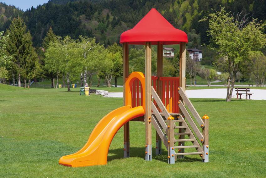 Gut gemocht Spielturm DIN EN 1176 «Aladin mit Rutsche & Dach» Rutschturm DIN BW06