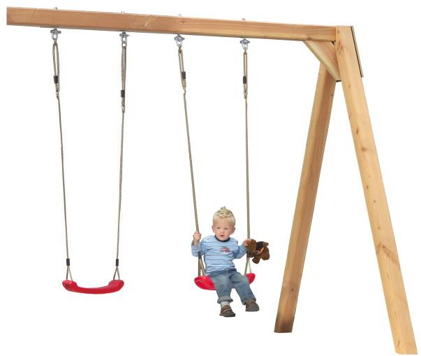 Kinder-Schaukel KARIBU Anbau-Doppelschaukel