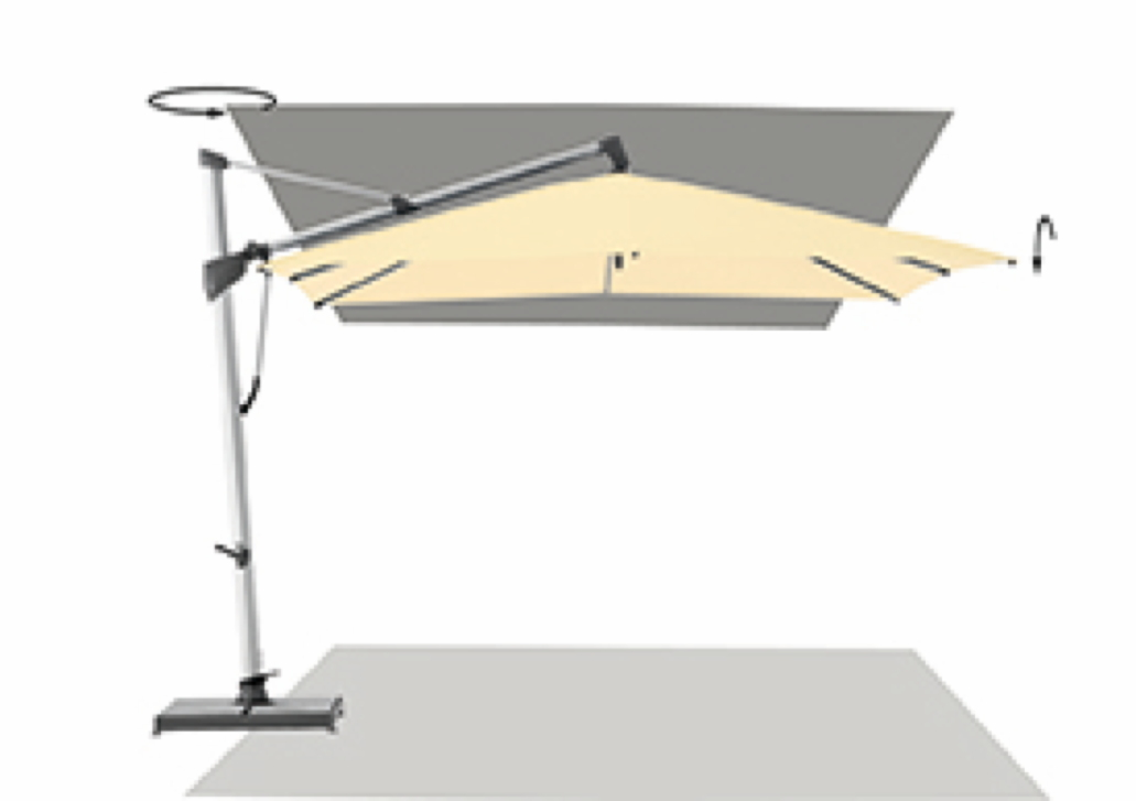 ampelschirm glatz sonnenschirm sombrano s 350cm. Black Bedroom Furniture Sets. Home Design Ideas