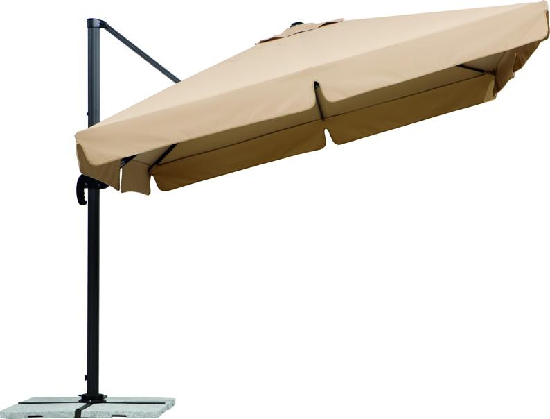 Sonnenschirm SCHNEIDER «Rhodos 300x300cm Natur» Ampelschirm, Aluminium |  Haushalt Angebot