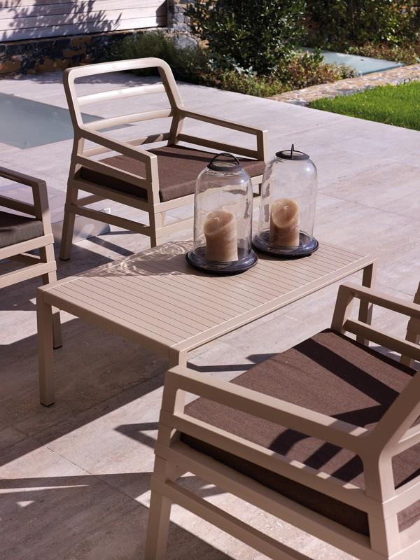 Gartentisch NARDI «Aria 100×60 weiß» Couchtisch
