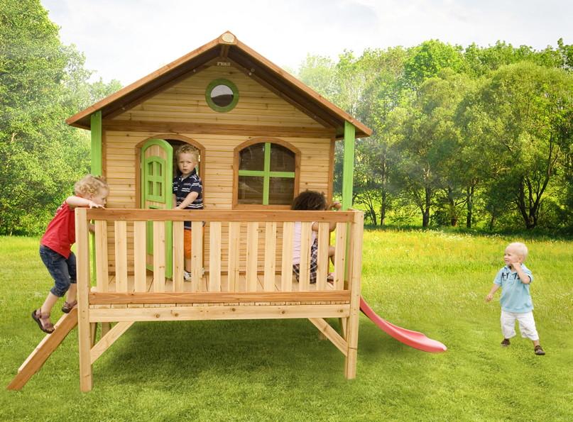 Kinder spielhaus flaches podest kinderspielhaus for Casitas infantiles para jardin
